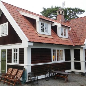 Fasadmålning i Nynäshamn