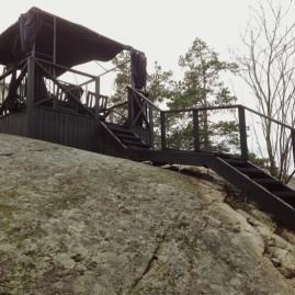 Byggnation av trappa i Österskär