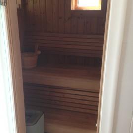 Nybyggnation av badrum och sauna i Saltsjö-boo