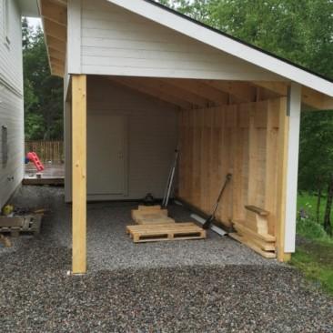Nybyggnad av garage i Saltsjö-boo