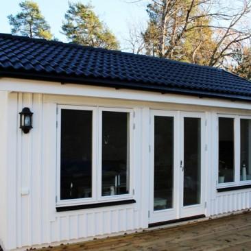 Nybyggnad av attefallshus i Saltsjö-boo