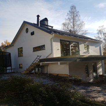Tillbyggnad och totalrenovering i Saltsjö-Duvnäs